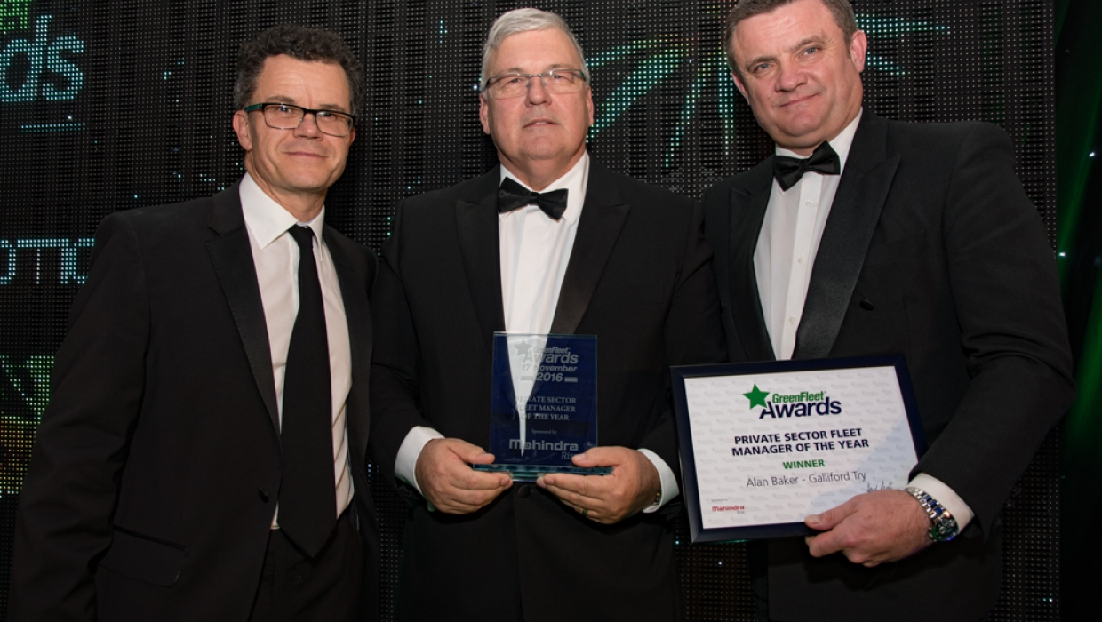 Private Sector Fleet manager of the Year Award winner: 2016 Winner: Alan Baker - Galliford Try